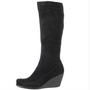 Aerosoles Gather Round Suede Boots Black